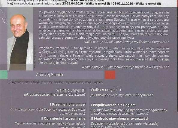 Walka o Umysł - Andrzej Sionek